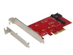 Adapter za vgradnjo SSD M.2 => PCI Express 3.0 x4 (NVMe SSD podpora) I-TEC 2xM.2 NGFF (PCE2M2)