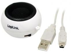 Zvočniki LogiLink prenosni, primerni za GSM/Tablični računalnik beli (SP0011A) EOLS-P