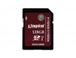 FLASH 128GB SDXC  Kingston U3, UHS-I Speed Class 3, 90/80 MB/s (SDA3/128GB)