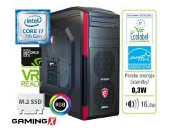 Računalnik  MEGA 6000 Carbon RGB i7-7700K/16GB/SSD256GB/2TB/GTX1070-8GB-Gaming