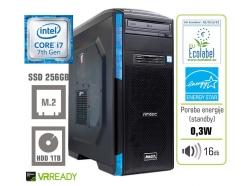 Računalnik  MEGA 6000 Gaming Plus i7-7700/8GB/SSD256GB/1TB/GTX1050Ti-4GB