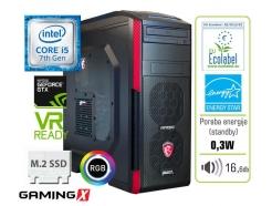 Računalnik  MEGA 6000 Carbon RGB i5-7600K/16GB/SSD256GB/2TB/GTX1060-6GB-